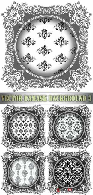 Vector Damask Background 3
