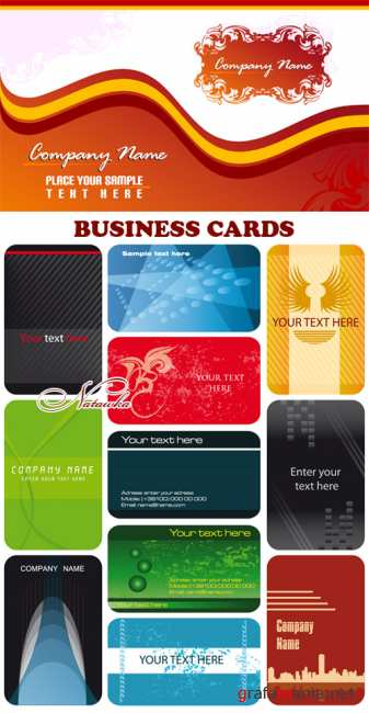 Business Cards - vector