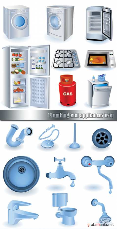 Plumbing and appliances icon
