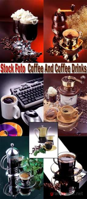 Stock Foto: Coffee And Coffee Drinks