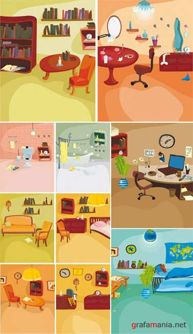 Cartoon Interiors