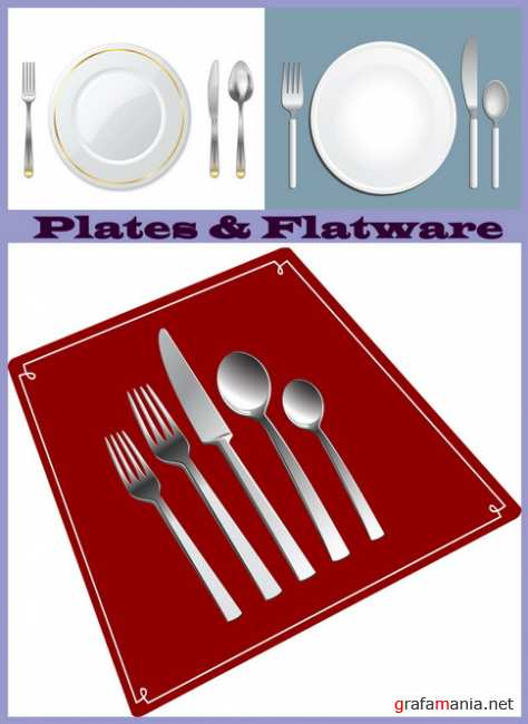 Plates and Flatware set