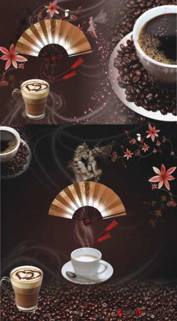 Coffee background PSD