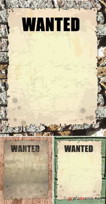 Old Paper - Wanted