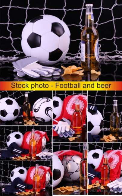 Stock photo - Football and beer | Футбол и пиво
