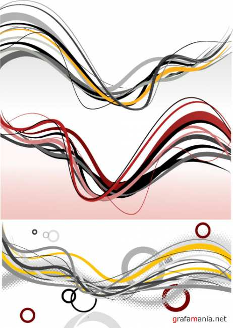 Vector abstract line
