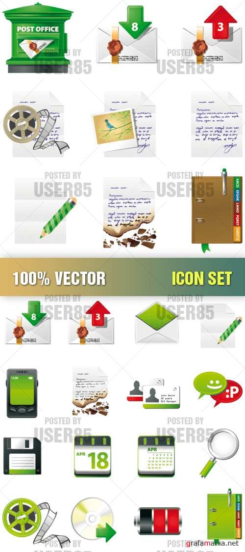 Stock Vector - Icon Set