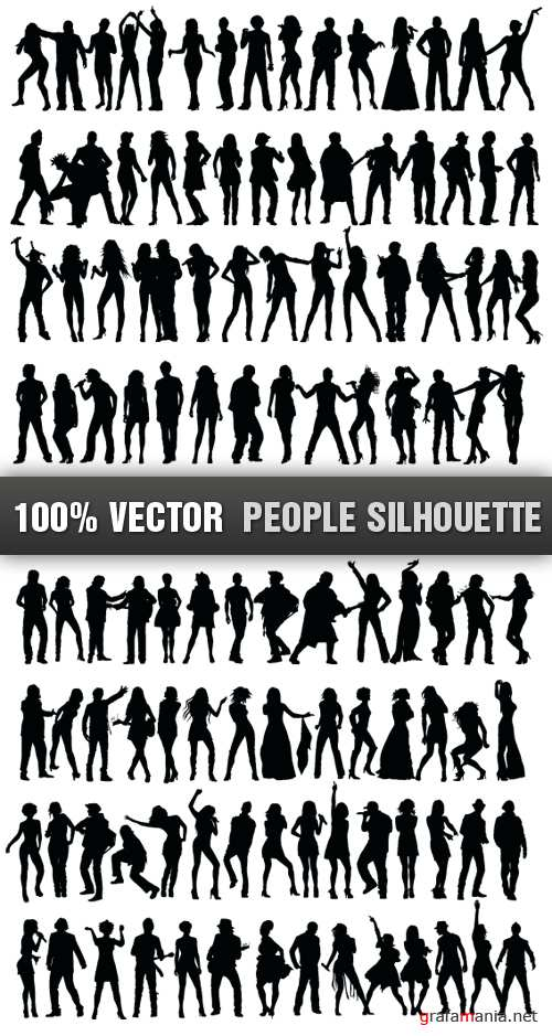 Stock Vector - People Silhouette