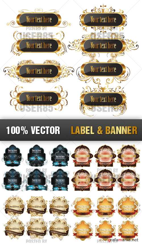 Stock Vector - Label & Banner