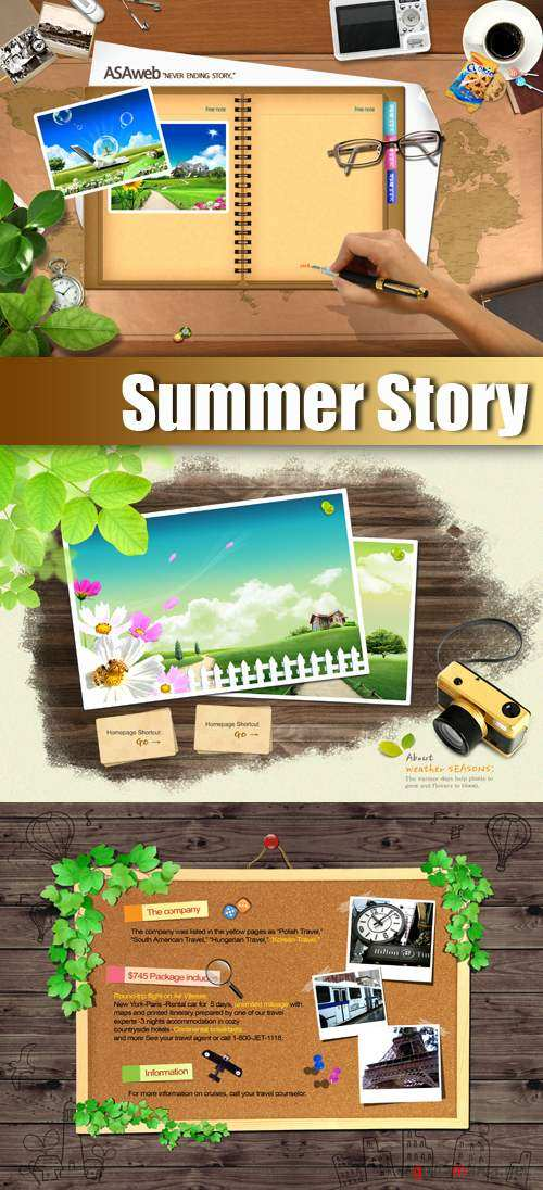 PSD Template - Summer Story