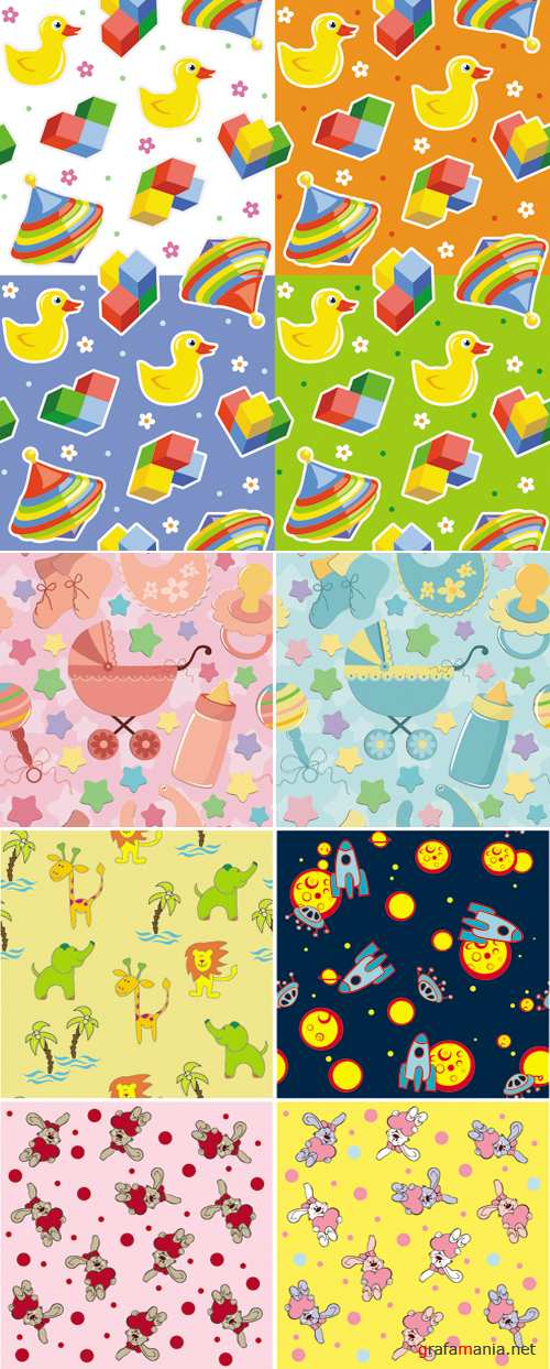 Kids Patterns Vector
