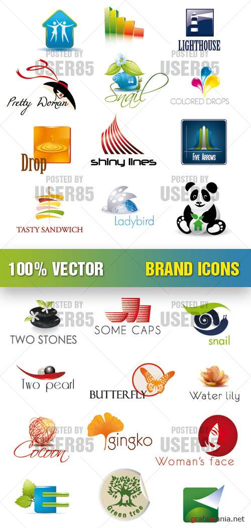 Stock Vector - Brand Icons