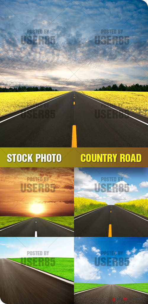 Stock Photo - Country Road