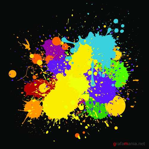 Vector - Colorful Splashes and Blots Pack