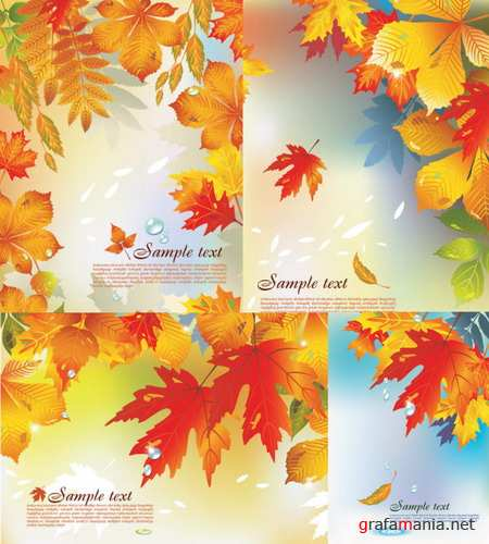 Vector autumn background material