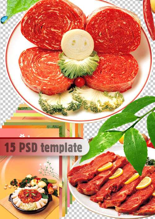 PSD template | Meat