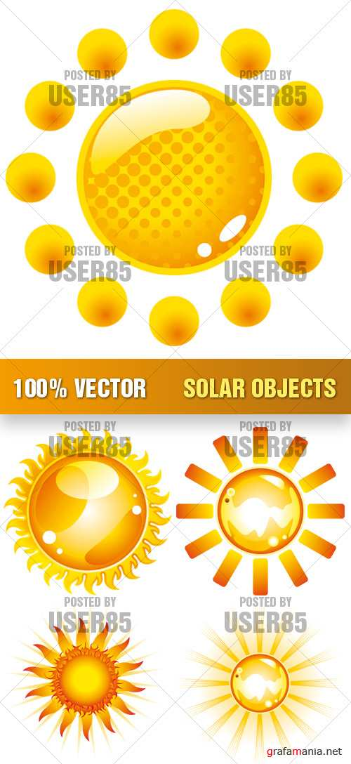 Stock Vector - Solar Objects