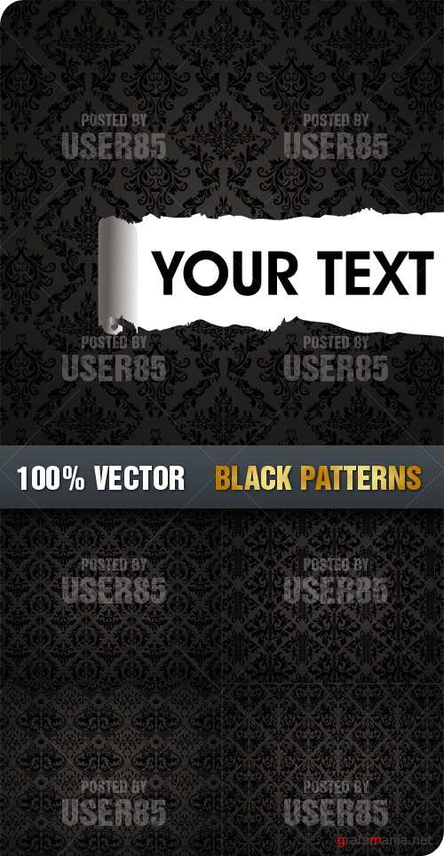 Stock Vector - Black Patterns