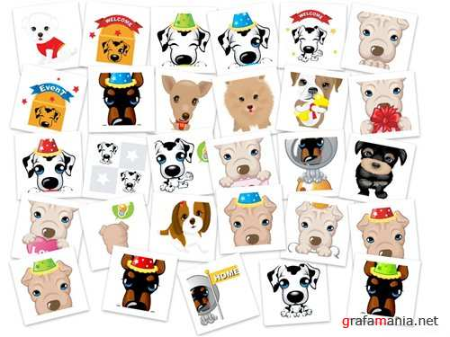 Stock vector - Dogs design