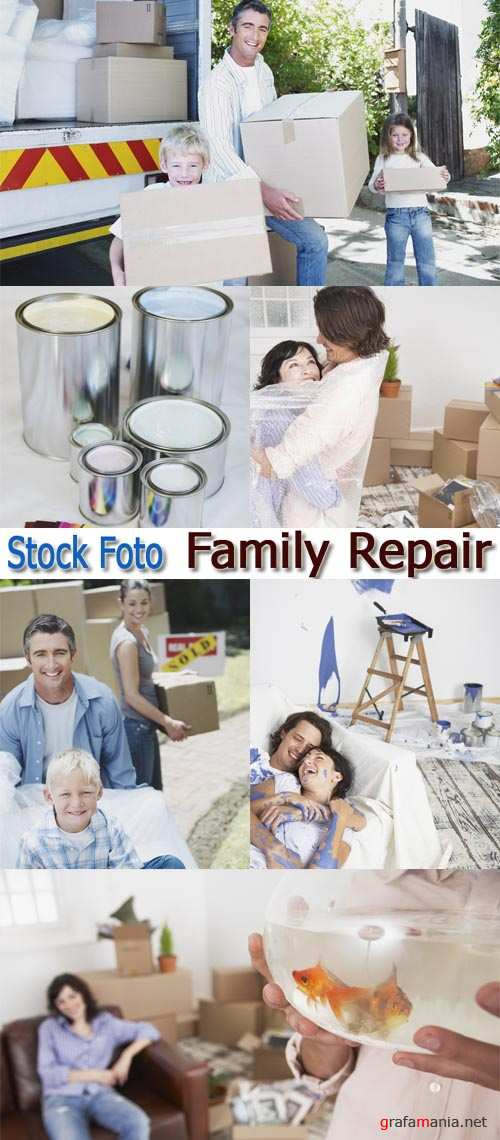 Stock Foto: Family Repair