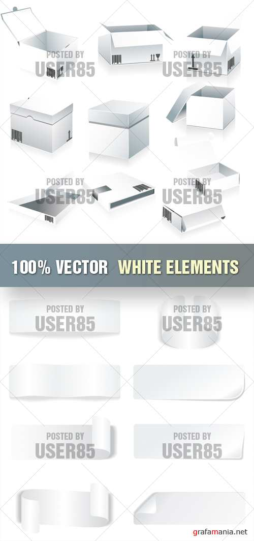 Stock Vector - White Elements