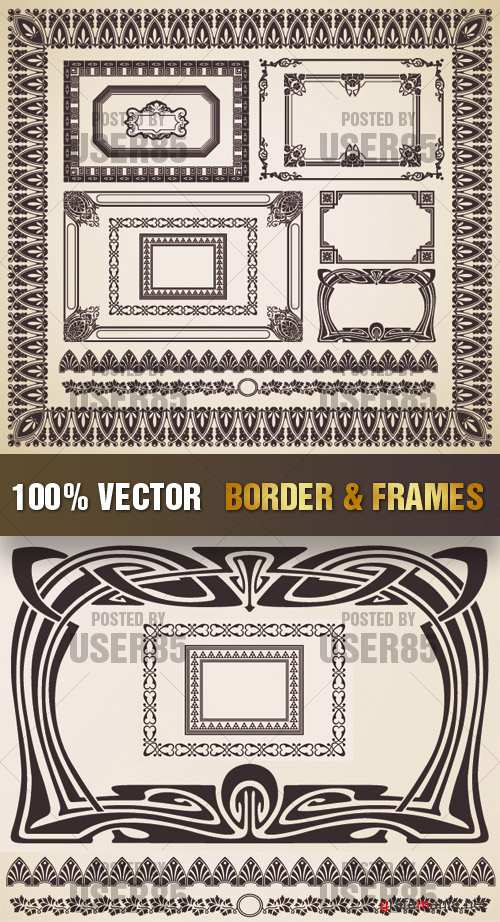 Stock Vector - Border & Frames
