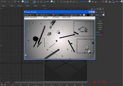 Assembly Disassembly with Particle Flow in 3Ds Max / Разбитие обьекта на частицы