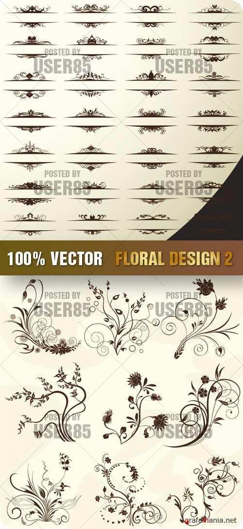 Stock Vector - Floral Design 2