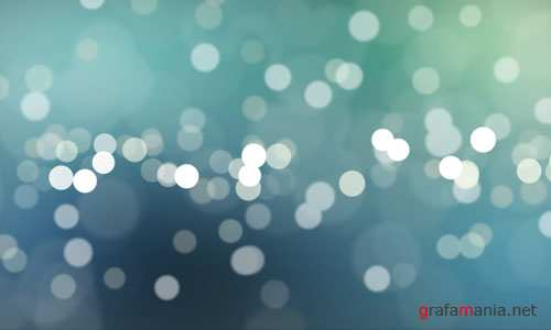Video Footages – Blue Defocused Particles