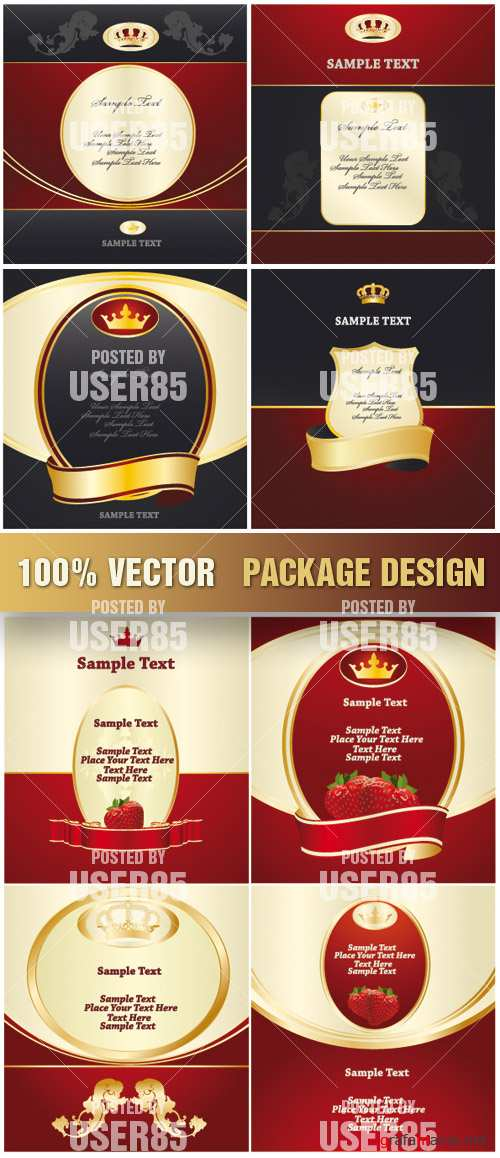 Stock Vector - Package Design