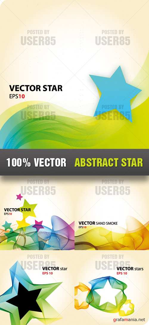 Stock Vector - Abstract Star