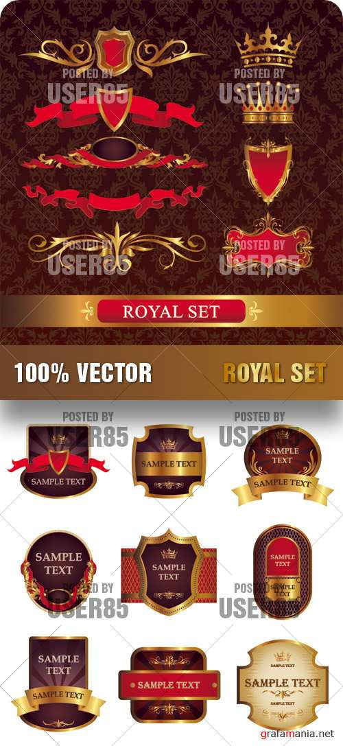 Stock Vector - Royal Set