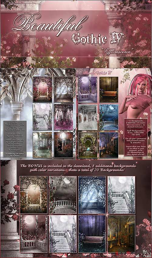 "Beautiful Gothic IV ""Efflorescence"" + 8 BONUS"