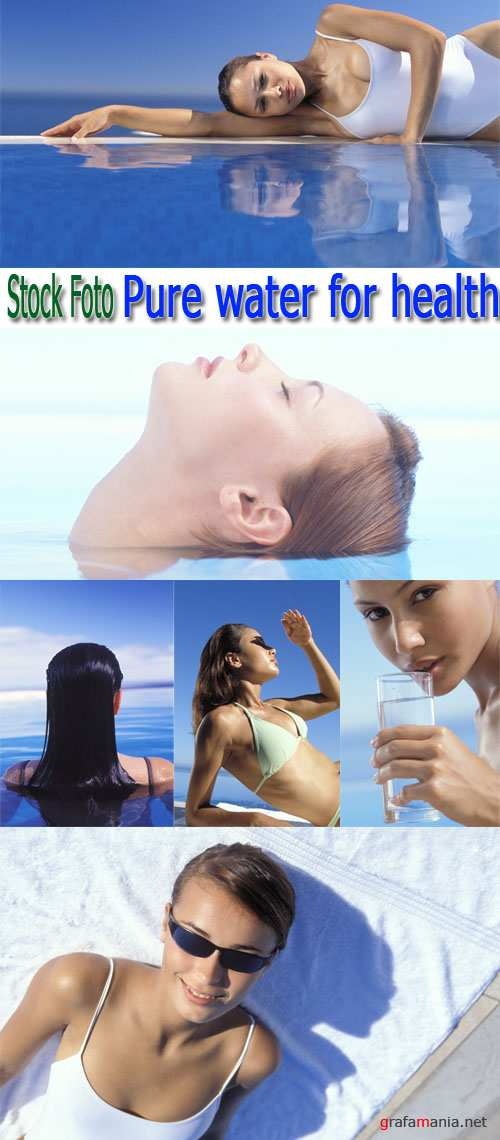 Stock Foto: Pure water for health