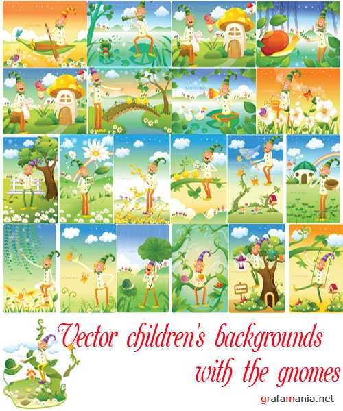 children's backgrounds with the gnomes