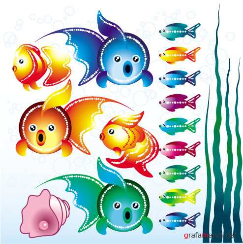 Stock vector - FUNY FISH