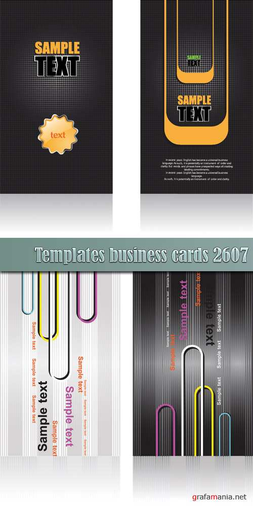 Templates business cards 26_07