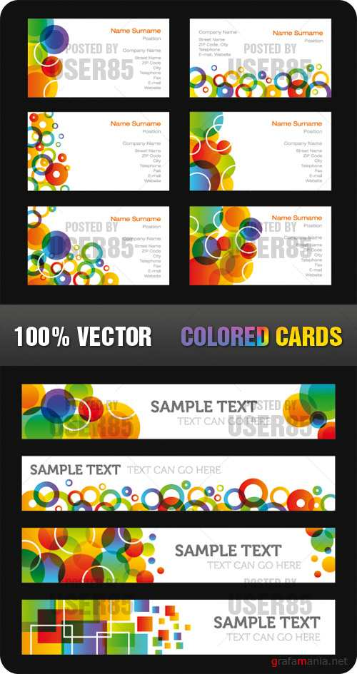 Stock Vector - Colored Cards