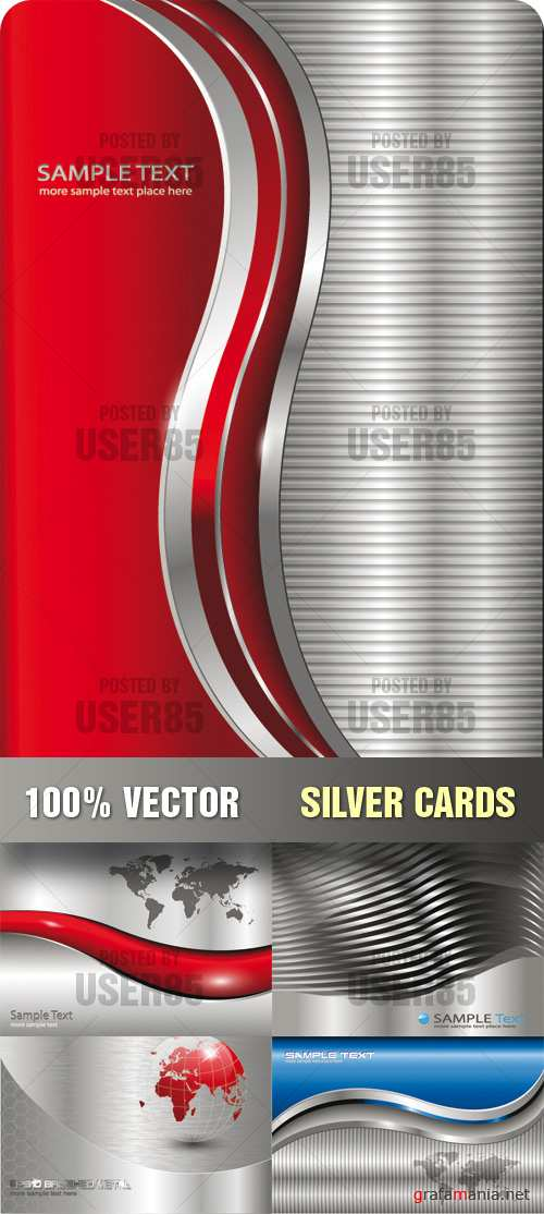 Stock Vector - Silver Cards