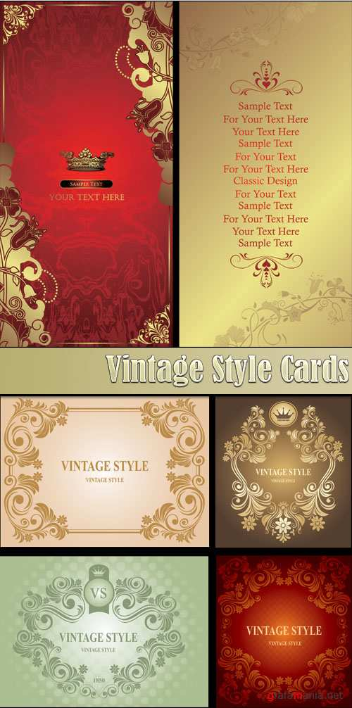 Vintage Style Cards