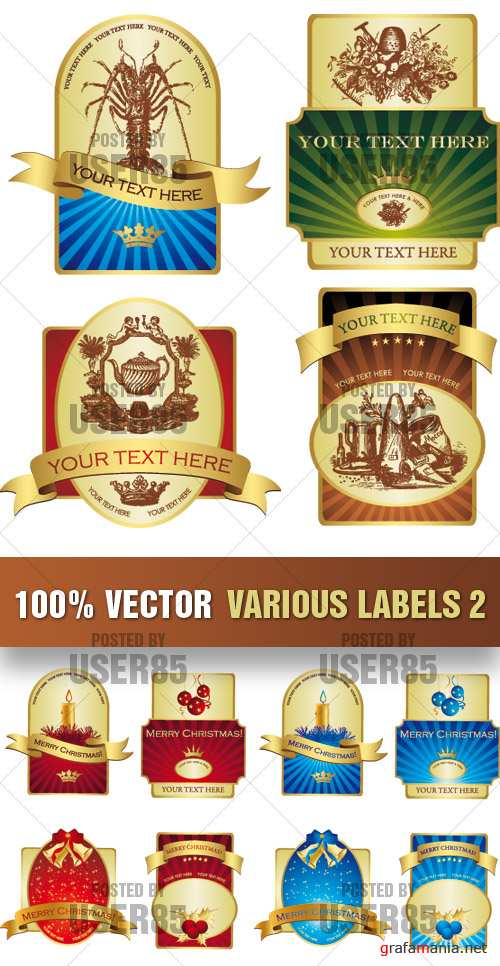 Stock Vector - Various Labels 2