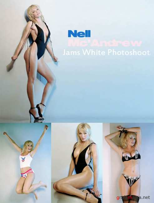 Nell McAndrev - Jams White Photoshoot