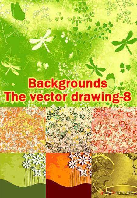 Backgrounds - The vector drawing 8