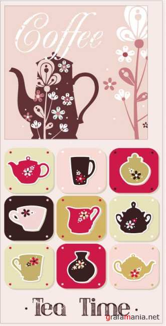 Vector stock - Tea and Coffee Background