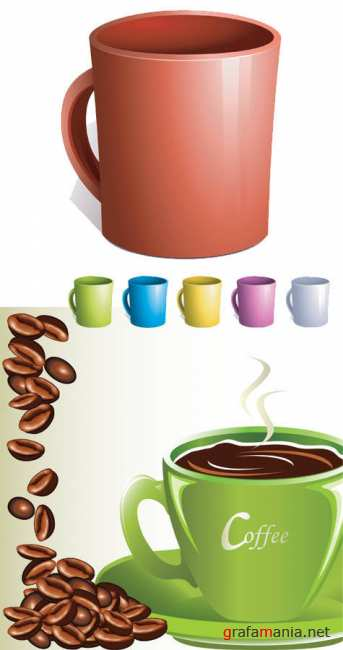 Vector stock - Coffee Cup set