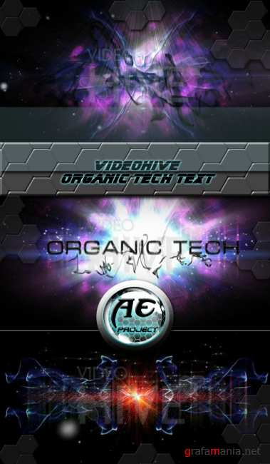 VideoHive After Effect project - Organic Tech Text 1080p HD