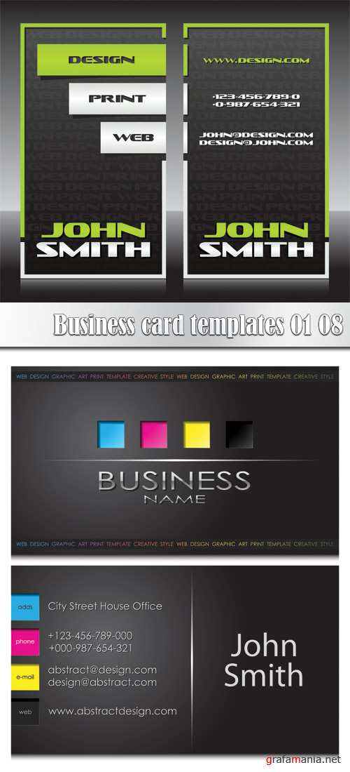 Business card templates 01_08