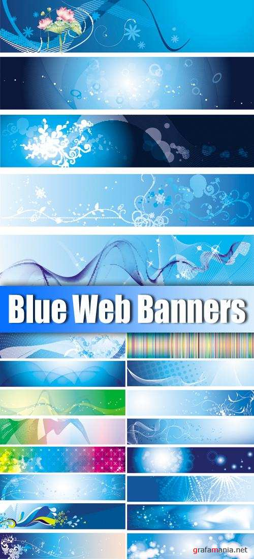 Blue Web Banners Vector