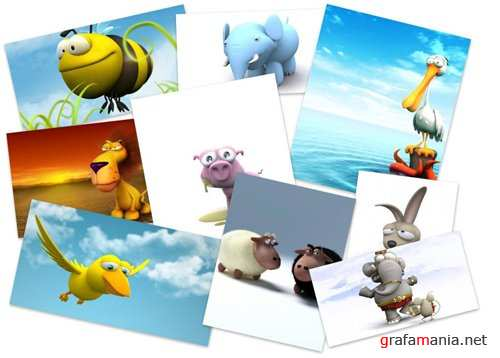 50 Funny 3D Animals Wallpapers
