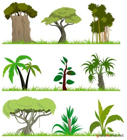 Stock Vector - Cartoon forest
